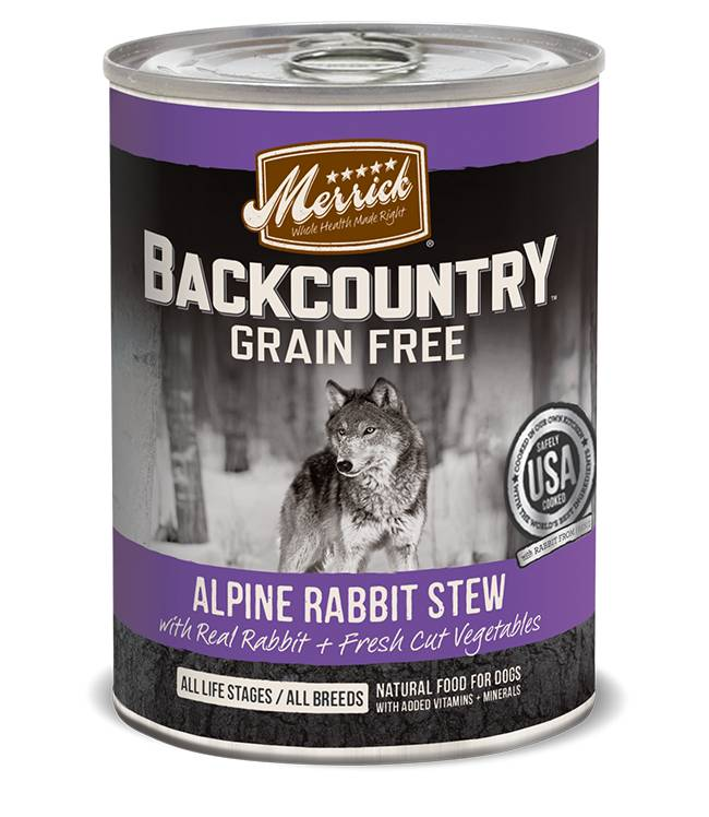 Merrick Merrick Backcountry Alpine Rabbit Stew Can Dog Food