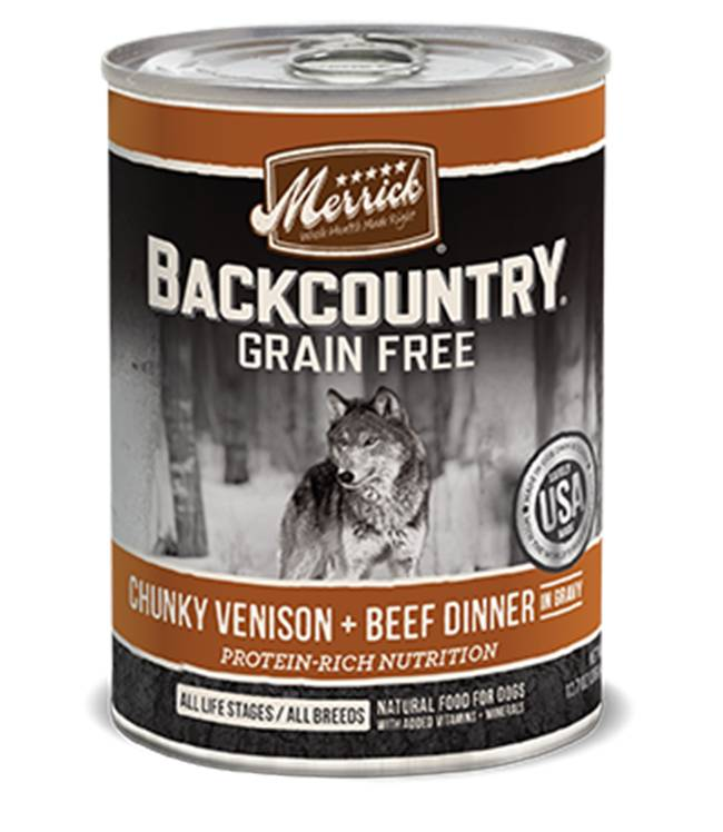 Merrick Merrick Backcountry Chunky Venison + Beef Can Dog Food