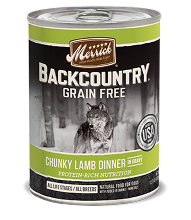 Merrick Merrick Backcountry Chunky Lamb Can Dog Food