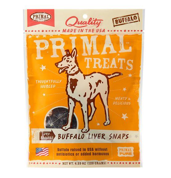 Primal Primal Snaps Buffalo Liver 4.25 oz.
