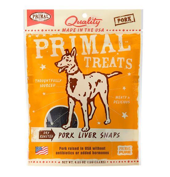 Primal Primal Snaps Pork Liver 4.25 oz.