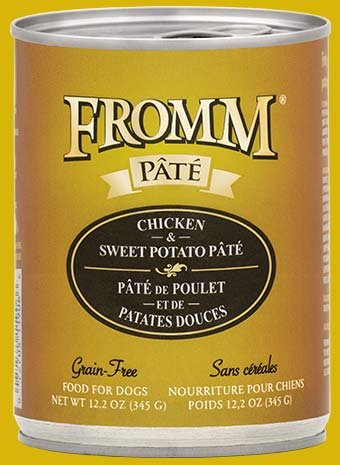 Fromm Fromm Dog Can Chicken & Sweet Potato Pate- CASE of 12