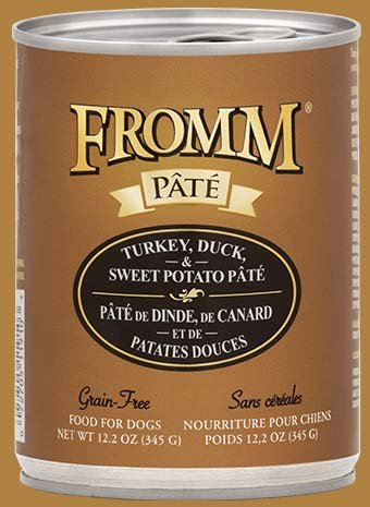 Fromm Fromm Dog Can Turkey/Duck & Sweet Potato Pate- CASE of 12