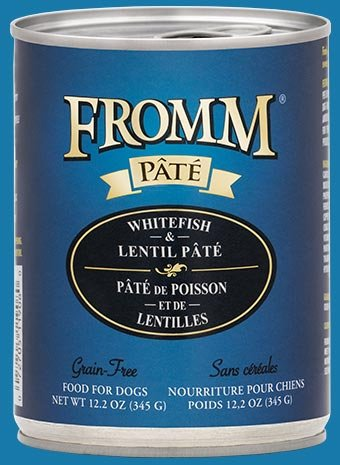 Fromm Fromm Dog Can Whitefish & Lentil Pate- CASE of 12