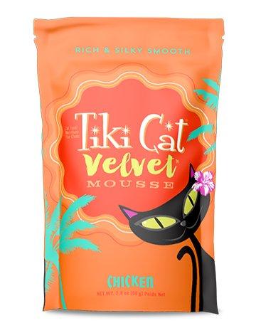 Tiki Tiki Velvet Mousse Cat Pouch Chicken 2.8 oz.