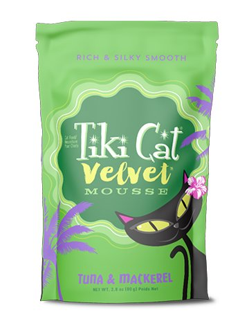 Tiki Tiki Velvet Mousse Cat Pouch Tuna Mackrel 2.8 oz.