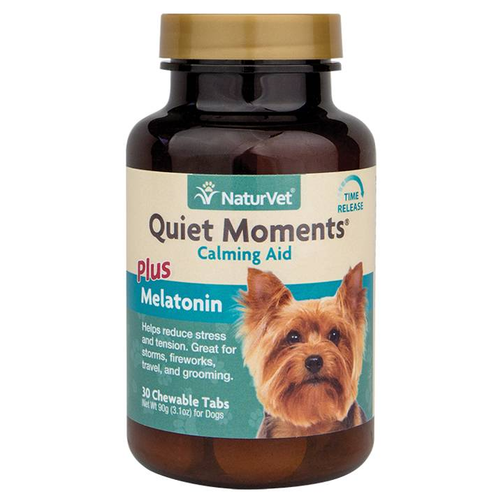 NaturVet NaturVet Quiet Moments Plus Melatonin Tablets - Time Release 30 ct