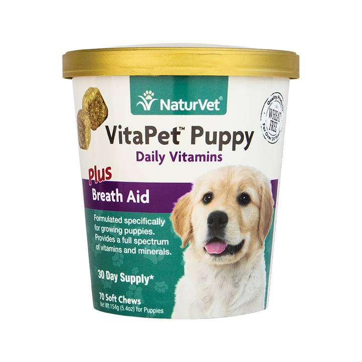 NaturVet NaturVet VitaPet Pet Puppy Plus Breath Aid Soft Chew 70 ct