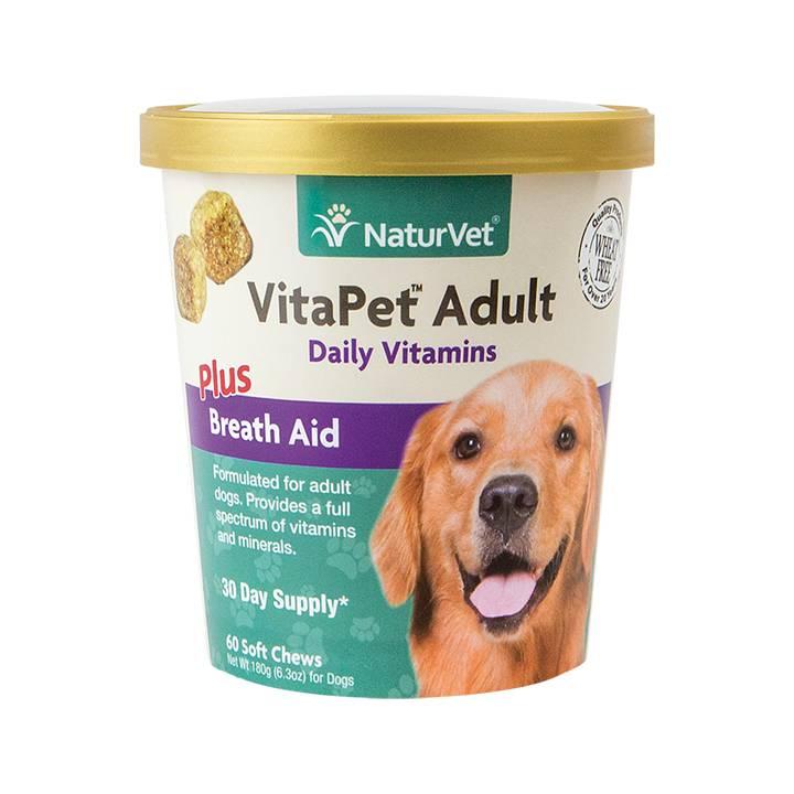 NaturVet NaturVet VitaPet Pet Adult Plus Breath Aid Soft Chew 60 ct