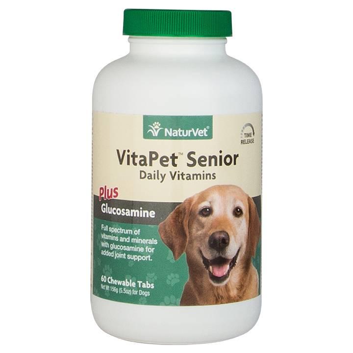 NaturVet NaturVet VitaPet Pet Senior Plus Glucosamine Tablets - Time Release 60 ct