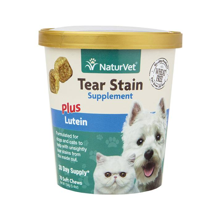 NaturVet NaturVet Tear Stain Plus Lutein Soft Chew 70 ct