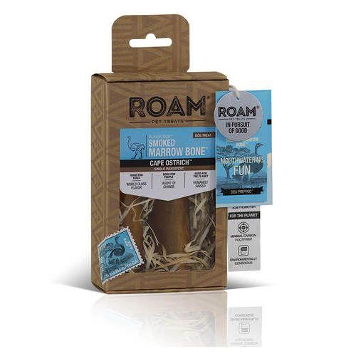 Roam Roam Smoked Marrow Ostrich Bone Small 2pk