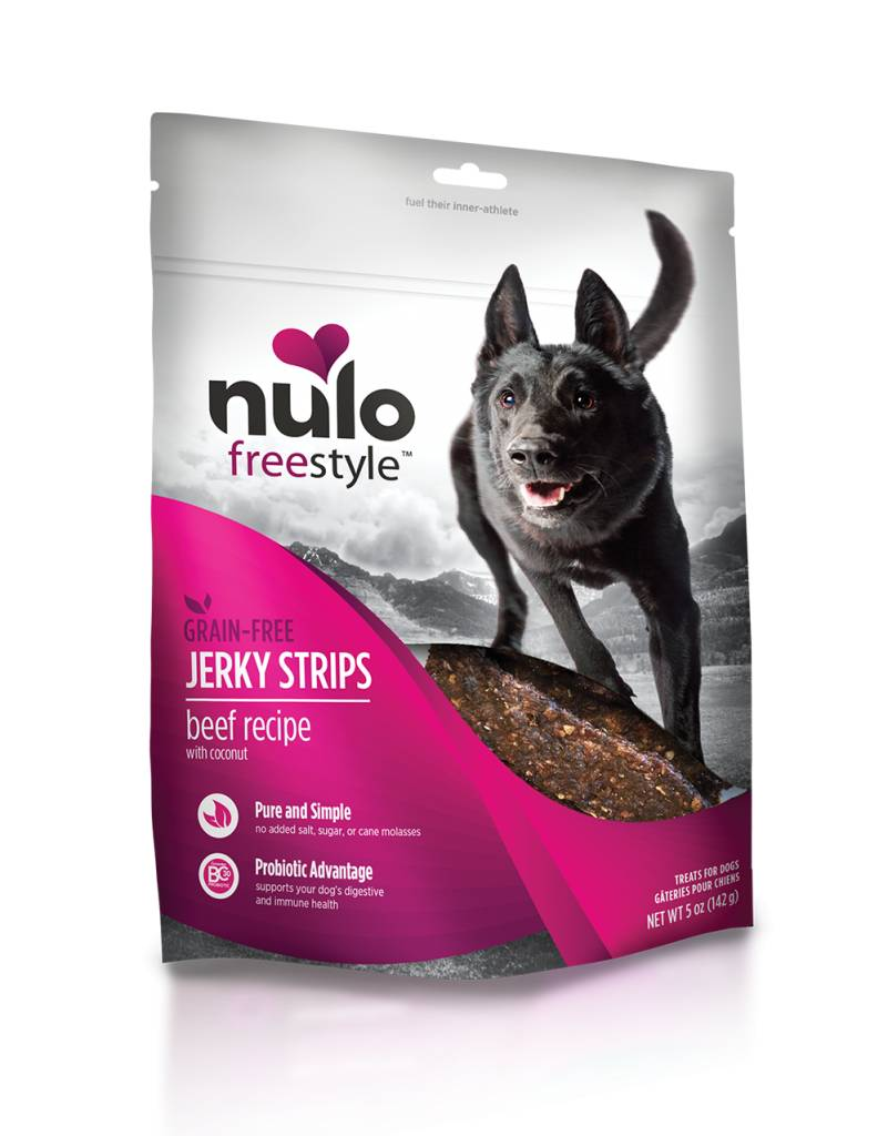 Nulo Nulo Jerky Strip Dog Treats Beef