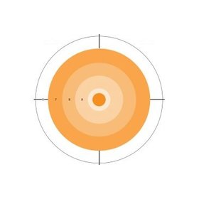 DO-ALL-OUTDOORS DO-ALL-OUTDOORS PAPER TARGET ORANGE DOT 10x10 10Pack