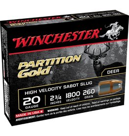 WINCHESTER WINCHESTER PARTITION GOLD 20GA SABOT GOLD SLUGS