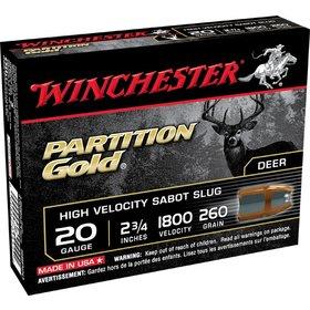 WINCHESTER WINCHESTER PARTITION GOLD 20GA SABOT GOLD SLUGS