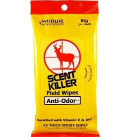 WILDLIFE RESEARCH WILDLIFE RESEARCH SCENT KILLER FIELD WIPES 24PK