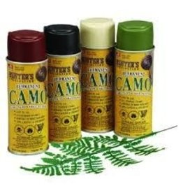 HUNTER SPECIALTIES HUNTER'S SPECIALTIES PERMANENT CAMO SPRAY PAINT KIT 4 CANS/1 LEAF STENCIL
