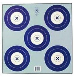 "NFI-2P 5-SPOT 16cm BLUE TARGET FACE 17""x17"""