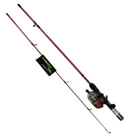 """MASTER RODDY 5'6"""" LIGHTED SPINCAST COMBO PINK ML REEL"""