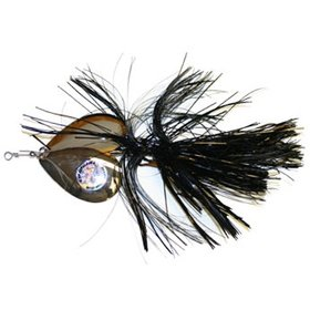MUSKY MAYHEM TACKLE MUSKY MAYHEM TACKLE DOUBLE COWGIRL SPINNERBAIT BLACK NICKEL