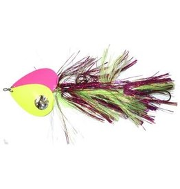 MUSKY MAYHEM TACKLE MUSKY MAYHEM TACKLE DOUBLE COWGIRL SPINNERBAIT HOT CHARTREUSE