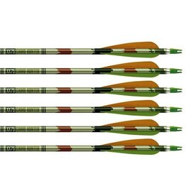 "EASTON EASTON CAMO HUNTER XX75 2216 ARROWS W/ 4"" VANES SINGLE"