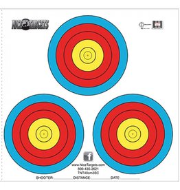 NICE TARGETS NICE TARGETS 40 CM THREE SPOT COLOR TARGET