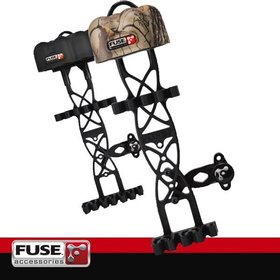 FUSE ARCHERY FUSE ARCHERY VECTOR QUIVER 4 ARROW BLACK OUT