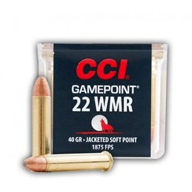 CCI CCI GAMEPOINT 22 WMR JACKETED SOFT POINT