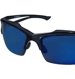EDGE SAFETY GLASSES EDGE KHOR BLACK FRAME/POLARIZED AQUA PRECISION BLUE MIRROR LENS