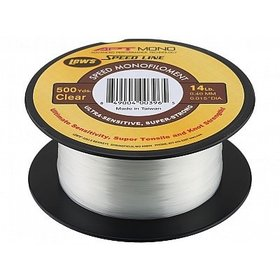 LEW'S LEW'S APT SPEED MONO 6 LB 500 YDS FILLER SPOOL CLEAR