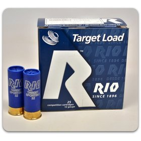 "RIO RIO TARGET LOAD 12 GA 2 3/4"" 7.5"" SHOT 1-1/8 OZ SPORTING SHELL"