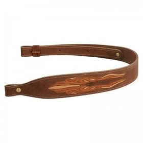 "LEVY'S LEATHERS LEVY'S LEATHERS 2 1/4"" BROWN SUEDE COBRA RIFLE SLING"