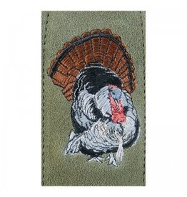 LEVY'S LEATHERS LEVY'S LEATHERS GREEN SUEDE GUN SLING W/ WILD TURKEY EMBROIDERY