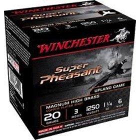 """WINCHESTER WINCHESTER SUPER PHEASANT 20GA 3"""" 1.25 OZ #6 LEAD"""