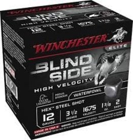 "WINCHESTER WINCHESTER BLIND SIDE HV 3.5"" 12 GA 1 3/8 OZ #2 HEX"