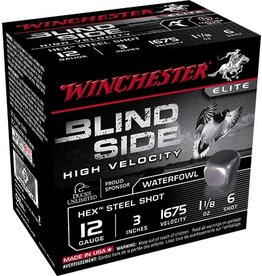 "WINCHESTER WINCHESTER BLIND SIDE HV 3"" 12 GA 1 1/8 OZ #6 HEX"