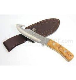 "CAMILLUS CAMILLUS 10"" LES STROUD SIGNATURE SERIES ASPERO GUTHOOK KNIFE W/ LEATHER SHEATH"