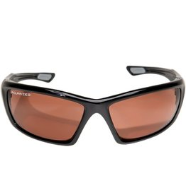 "EDGE SAFETY GLASSES EDGE ROBSON BLACK/ POLARIZED COPPER ""DRIVING"" LENS"