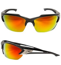 EDGE SAFETY GLASSES EDGE KHOR BLACK/AP RED MIRROR LENS