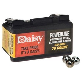 "DAISY POWERLINE SLINGSHOT AMMO 3/8"" 70 CT"