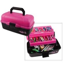 FLAMBEAU OUTDOORS FLAMBEAU SUPPORT THE CURE PINK/ BLK 2-TRAY TACKLE BOX
