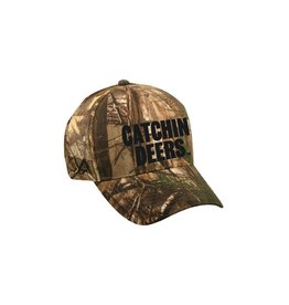 CATCHIN' DEERS CATCHIN' DEERS GREEN CAMO MESHBACK HAT