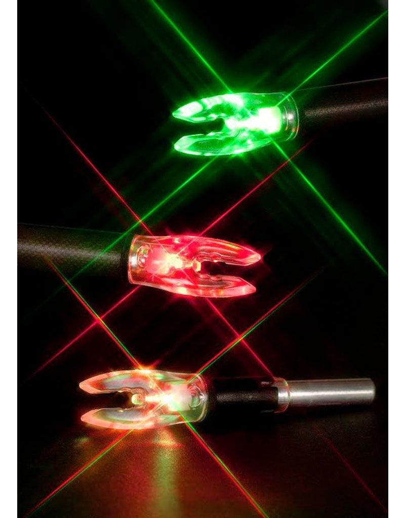 RAGE ARCHERY NOCKTURNAL UNIVERSAL FIT STROBING RED/GREEN HIGH VISIBILITY LED