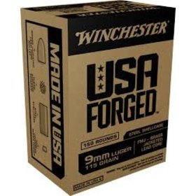WINCHESTER WINCHESTER USA FORGED 9MM LUGER 115 GR FMJ 150RDS