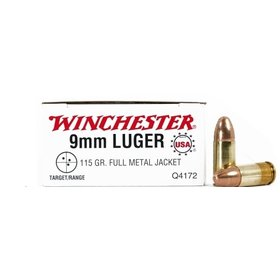 WINCHESTER WINCHESTER 9MM LUGER 115GR FMJ 50 RDS