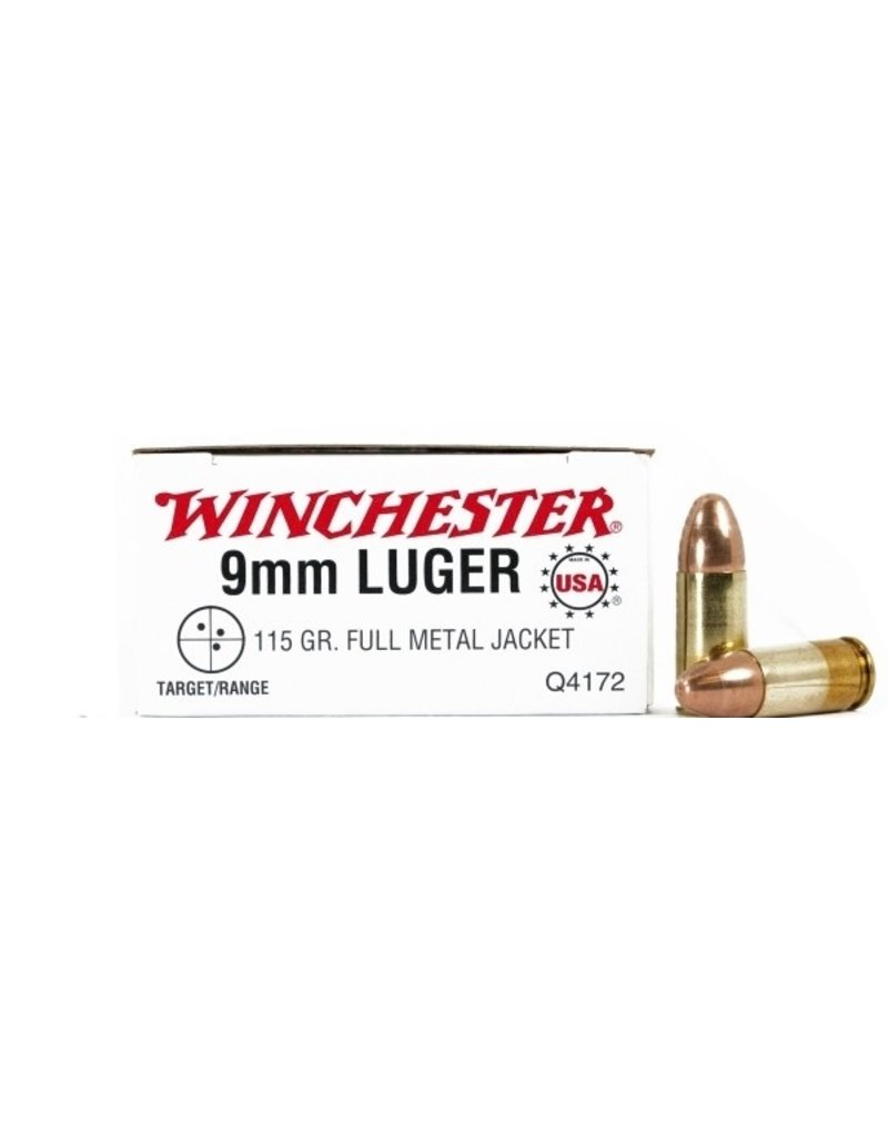 WINCHESTER WINCHESTER 9MM LUGER 115GR FMJ