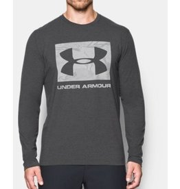 UNDER ARMOUR UNDER ARMOUR MEN'S CAMO KNOCKOUT LONG SLEEVE TEE GRAY