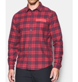 UNDER ARMOUR UNDER ARMOUR MEN'S TRADESMAN LW FLANNEL SHIRT RED
